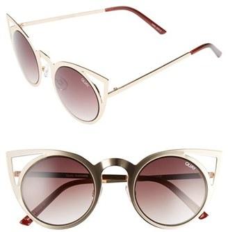 Junior Women's Quay Australia 'Invader' 50Mm Cat Eye Sunglasses - Gold/ Brown Lens $50 thestylecure.com