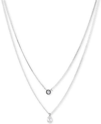 "DKNY Double Row Pendant Necklace, 16"" long + 3"" Extender"