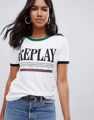 Replay Stripe T-Shirt
