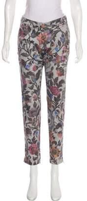 Dries Van Noten Printed Cotton Skinny Pants