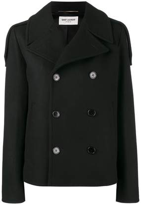 Saint Laurent short peacoat