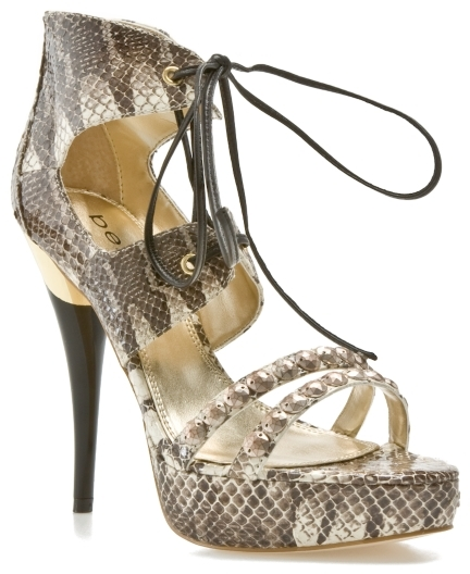 bebe Beata Sandal - Brown Snake
