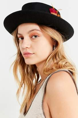 Urban Outfitters Wool Porkpie Feather Hat