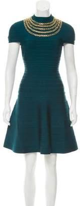 Herve Leger Tereza Chain-Embellished Bandage Dress