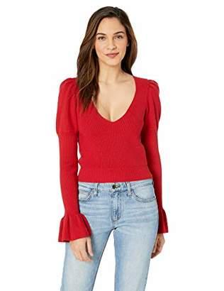 For Love & Lemons Women's Oxford Long Sleeve Sweater