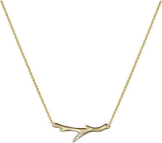 Shaun Leane Branch gold vermeil and diamond necklace, silver