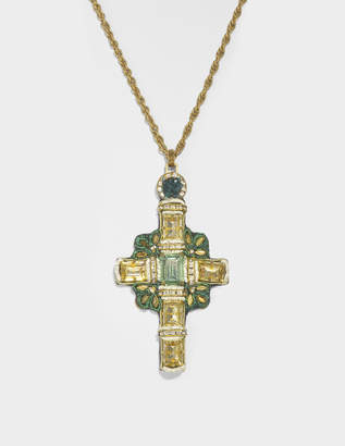 Versace Tribute Madonne Necklace in Gold Brass