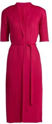 Pleats Please Issey Miyake Pleated Kimono Jacket - Womens - Pink