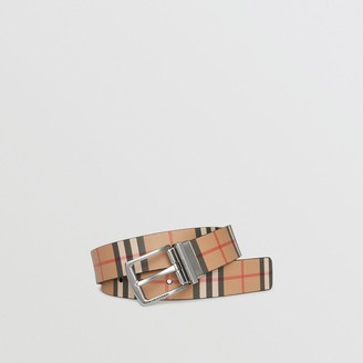 Burberry Reversible Vintage Check Leather Belt