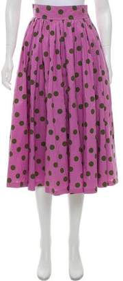 Saint Laurent Vintage Polka Dot Skirt