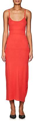 Brock Collection WOMEN'S KYLA COTTON-SILK FITTED MAXI DRESS