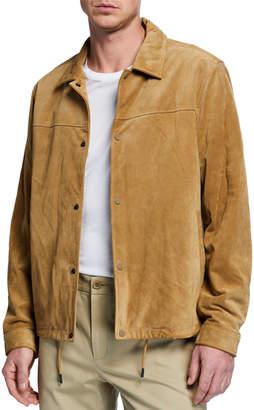 Vince Men's Suede Coaches Jacket