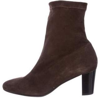 Robert Clergerie Clergerie Paris Dogt Stretch Suede Booties