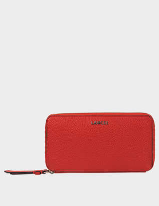 Lancel Lettrines Wallet in 1948 Red Grained Leather