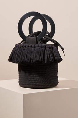Anthropologie Lara Woven Bucket Bag