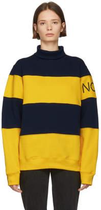 Noah NYC Navy and Yellow Mariner Turtleneck