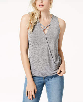 Bar III Criss-Cross Surplice Tank Top, Created for Macy's