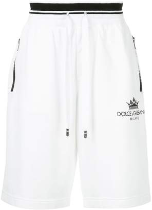 Dolce & Gabbana drawstring logo patch shorts