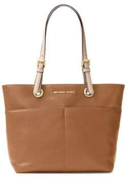 MICHAEL Michael Kors Bedford Contrast-Strap Leather Tote Bag