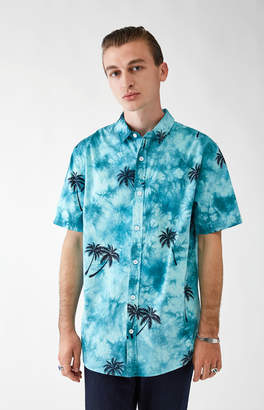 Pacsun Sea Washed Short Sleeve Button Up Shirt