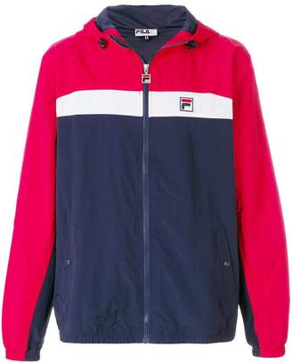 Fila colour-block zipped jacket