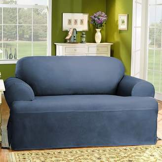 Sure Fit Cotton Duck T-Cushion Loveseat Slipcover