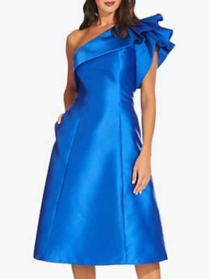 Adrianna Papell Short Mikado Dress, Yves Blue
