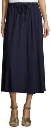 Eileen Fisher Drawstring A-line Jersey Skirt $158 thestylecure.com