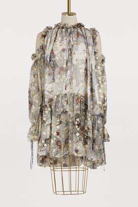 Alexander McQueen Silk mini dress