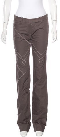 Christian Dior Embroidered Straight-Leg Pants