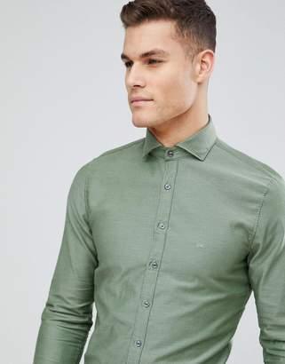Michael Kors Slim Smart Oxford Shirt In Khaki
