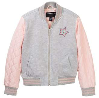 Bernardo French Terry Quilted Bomber Jacket (Big Girls)