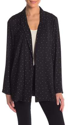 Lush Polkadot Patterned Blazer
