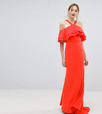 Jarlo Tall Oversized Ruffle Front Maxi Dress