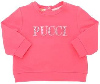 Emilio Pucci Logo Embellished Print Cotton Sweatshirt