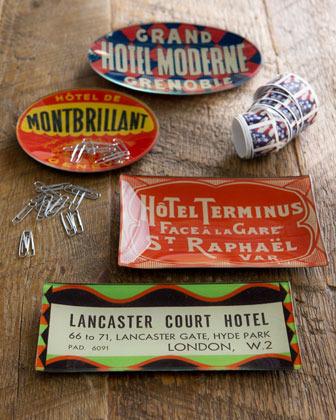 "John Derian Lancaster Court Hotel"" Rectangular Tray"