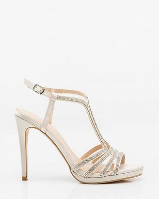 Le Château Jewel Embellished Satin T-Strap Sandal