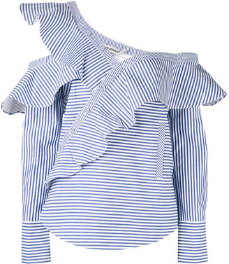 Self-Portrait striped frill blouse $318.32 thestylecure.com