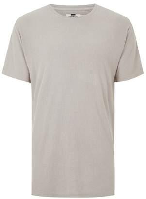 Topman Mens Stone Wash Ribbed Longline T-Shirt