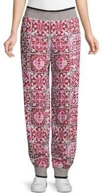 Hilary MacMillan x Barbie Floral Pattern Jogger Pants
