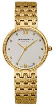 Bruno Magli Isabella Stainless Steel Swiss Quartz Bracelet Analog Watch