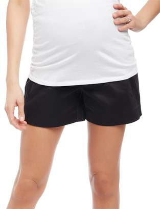 Motherhood Maternity Secret Fit Belly Sateen Maternity Shorts- Solid