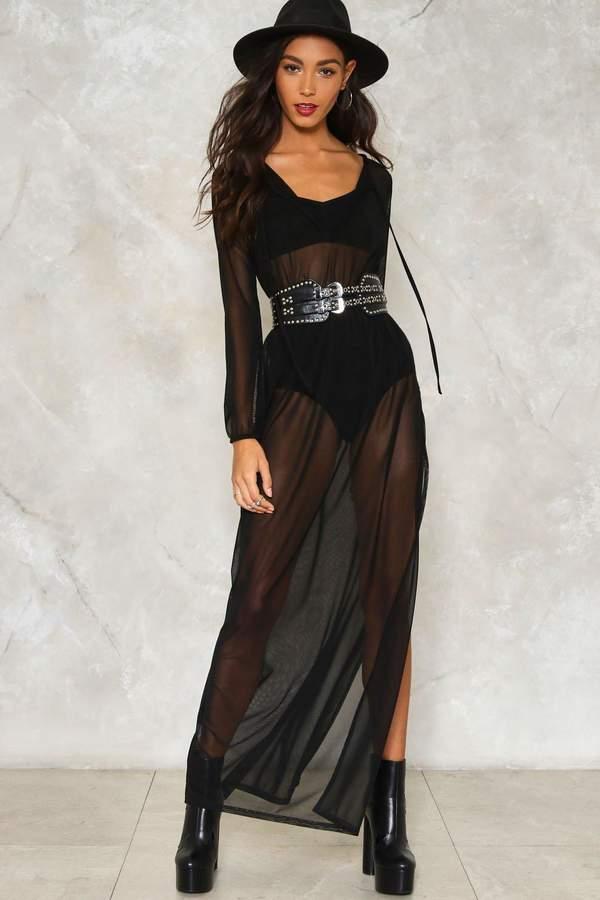 nastygal Travel Lightly Mesh Dress