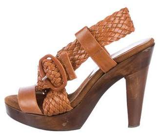 Loeffler Randall Wynne Woven Platform Sandals