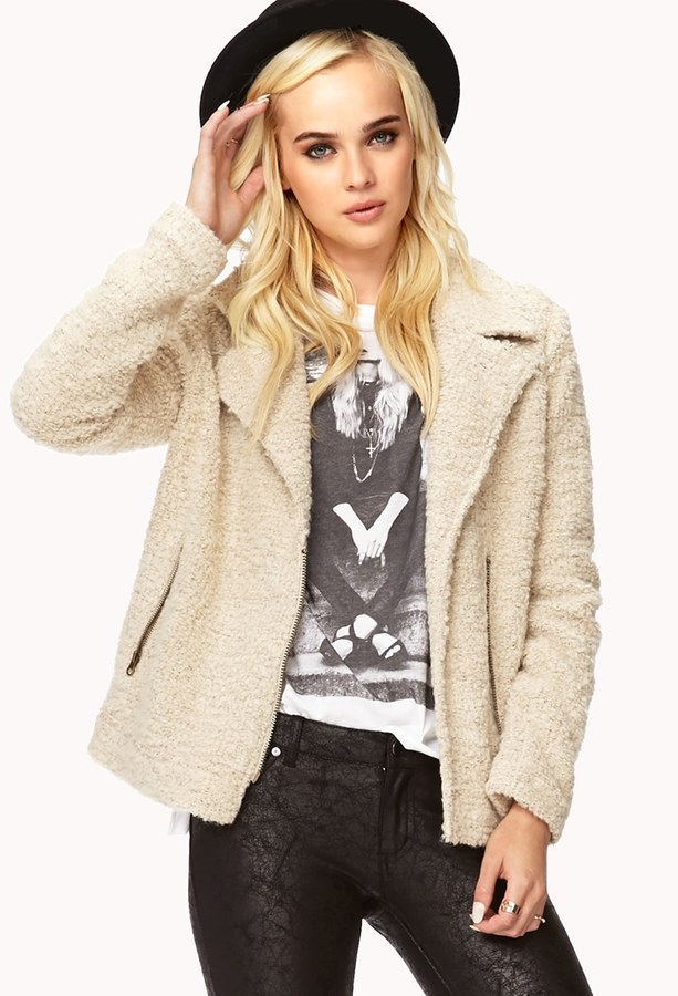 Forever 21 Forget Me Not Bouclé Coat