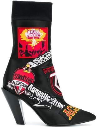 A.F.Vandevorst patch-appliquéd ankle boots