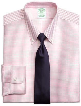 Brooks Brothers Original Polo Button-Down Oxford Milano Slim-Fit Dress Shirt, Small Windowpane
