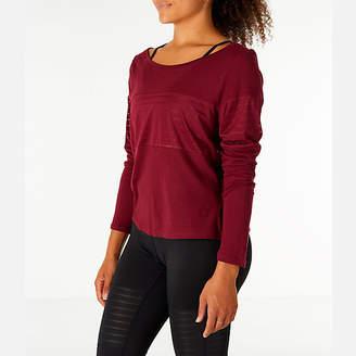 Reebok Women's Dance Mesh Long Sleeve Layer Shirt