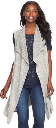 Women's Juicy Couture Draped Long Vest $54 thestylecure.com