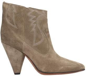 Buttero Beige Suede Ankle Boots